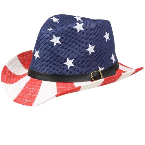 c43667407c1 KIDS AMERICAN FLAG COWBOY HAT 54CM